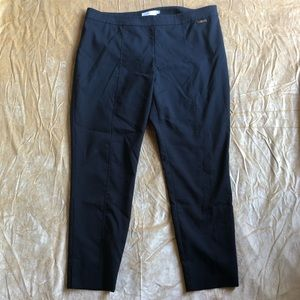 Tory Burch Black Slim Leg Ankle Pants Size 14
